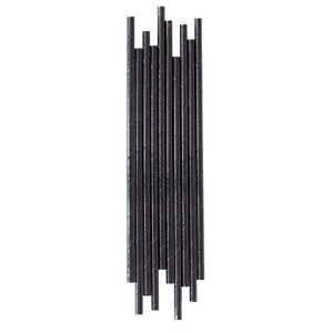 Black Foil Paper Straws - The Party Room