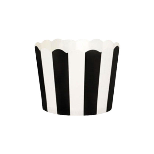 Black & White Stripe Cupcake Wrappers - The Party Room