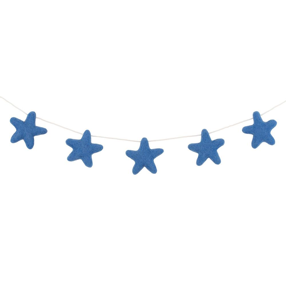 Felt Star Garland | Blue - The Party Room