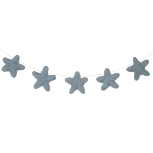Felt Star Garland | Blue Grey - The Party Room