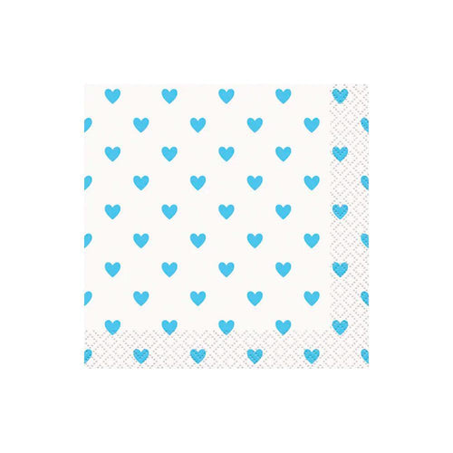 Blue Heart Napkins - The Party Room