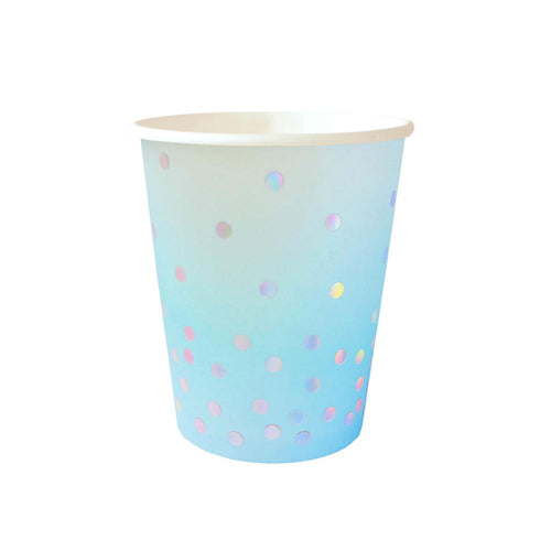 Blue Iridescent Cups - The Party Room