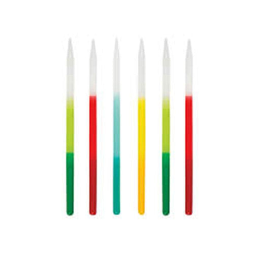 Tall Bright Ombre Dipped Party Candles - The Party Room