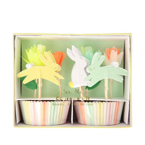 Floral Bunny Cupcake Kit - The Party Room