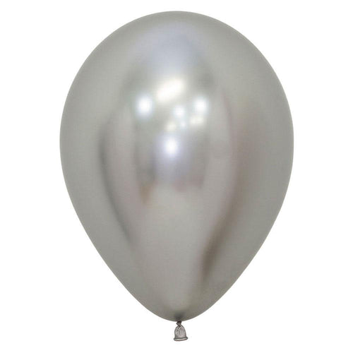 Metallic Silver Balloons - The Party Room
