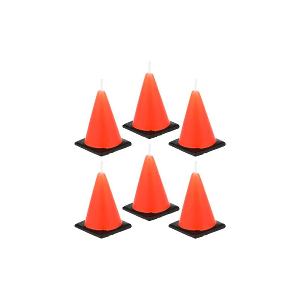 Construction Road Cone Candles - The Party Room