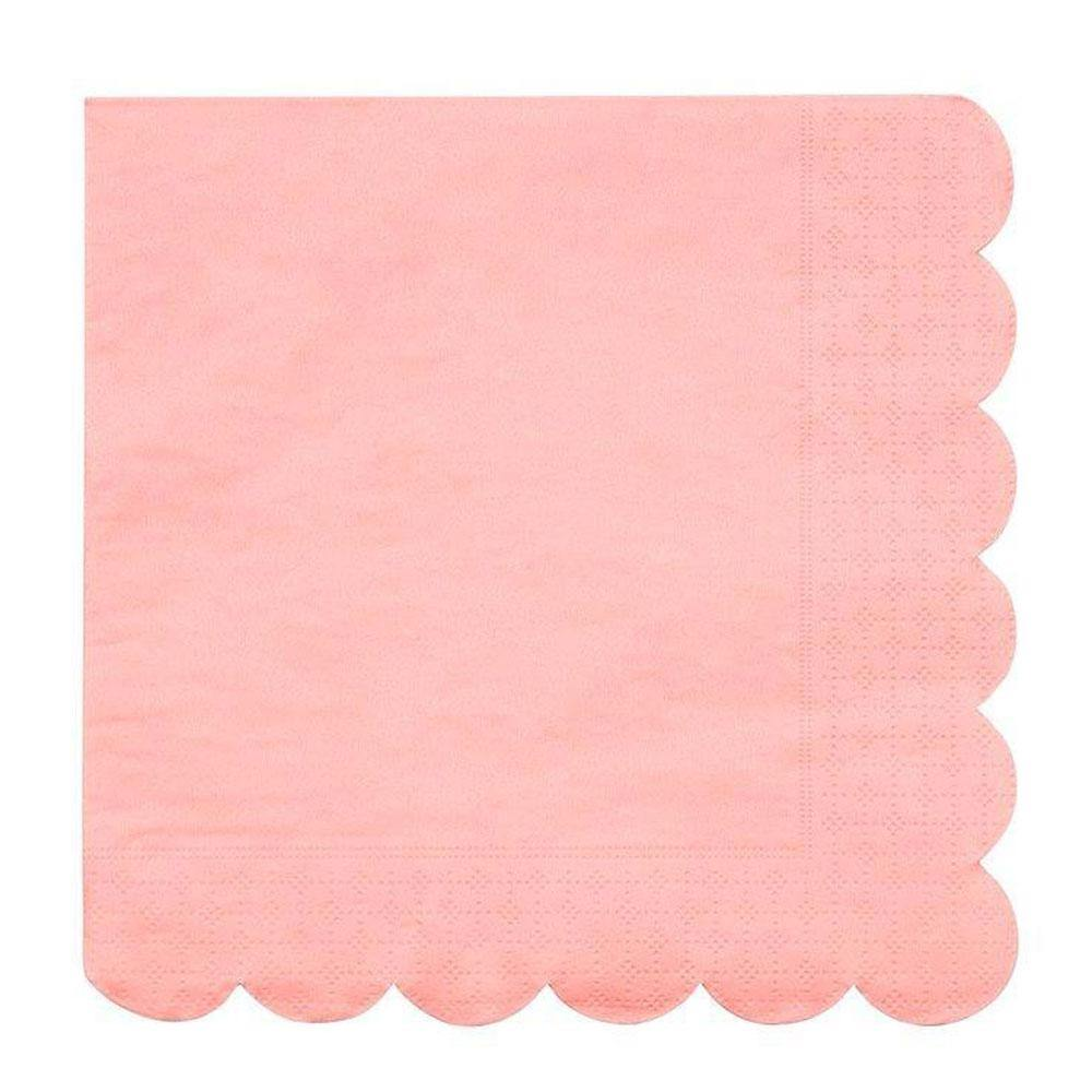 Coral Scalloped Napkins - The Party Room