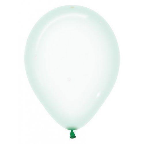 Crystal Pastel Green Balloons - The Party Room
