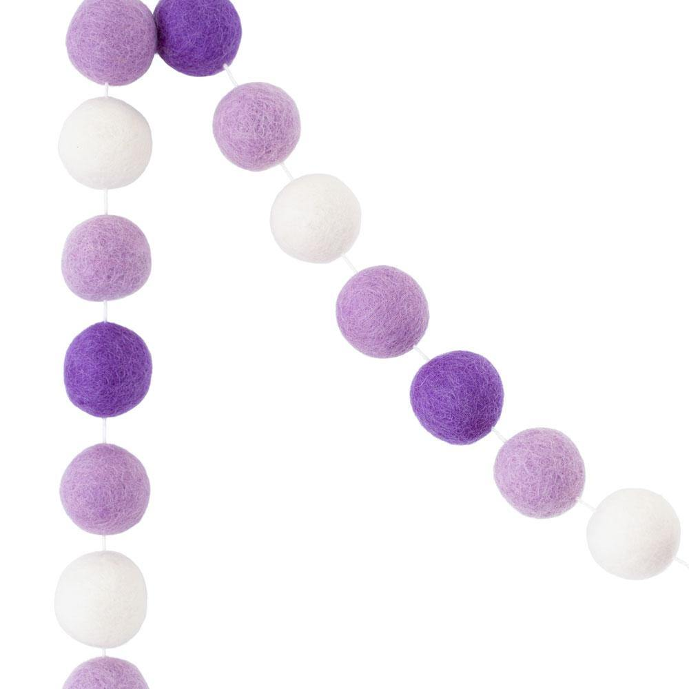 Felt Ball Garland | Purple - The Party Room