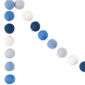 Felt Ball Garland | Blue Ombré