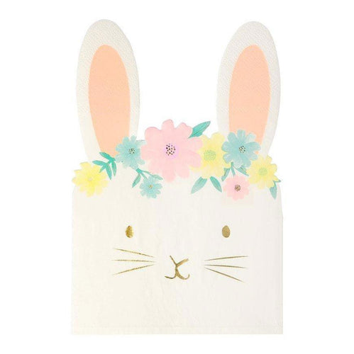 Floral Bunny Napkins - The Party Room