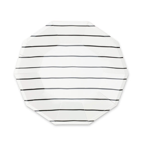 Black Striped Plates - The Party Room