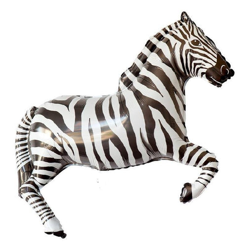 Jumbo Zebra Foil Balloon - The Party Room