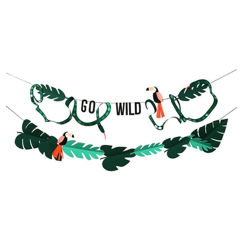 Go Wild Jungle Garland - The Party Room