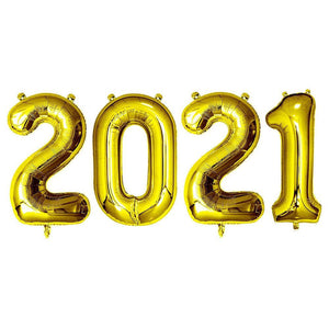 Gold Giant Foil Number Balloons - 2021 - The Party Room