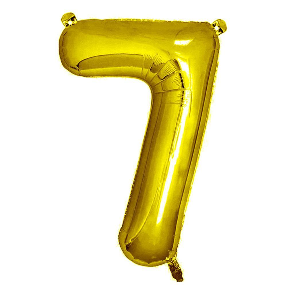 Gold Giant Foil Number Balloon - 7