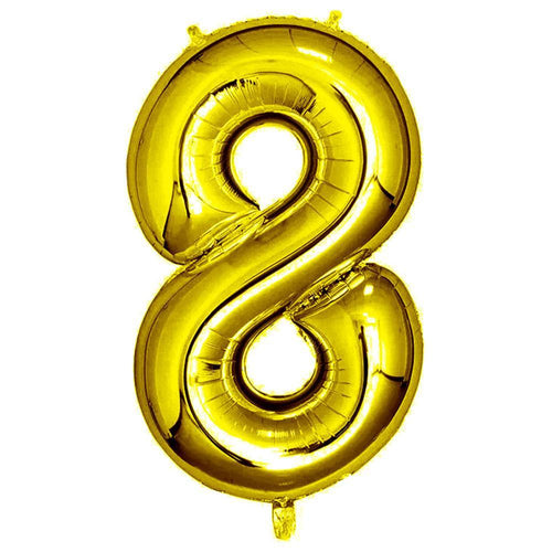 Gold Giant Foil Number Balloon - 8 - The Party Room