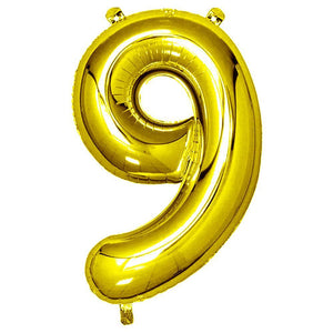 Gold Giant Foil Number Balloon - 9
