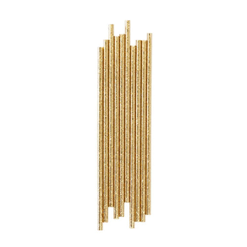 Gold Foil Paper Straws - The Party Room