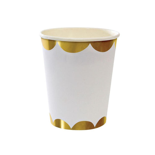 Gold Scallop Cups - The Party Room