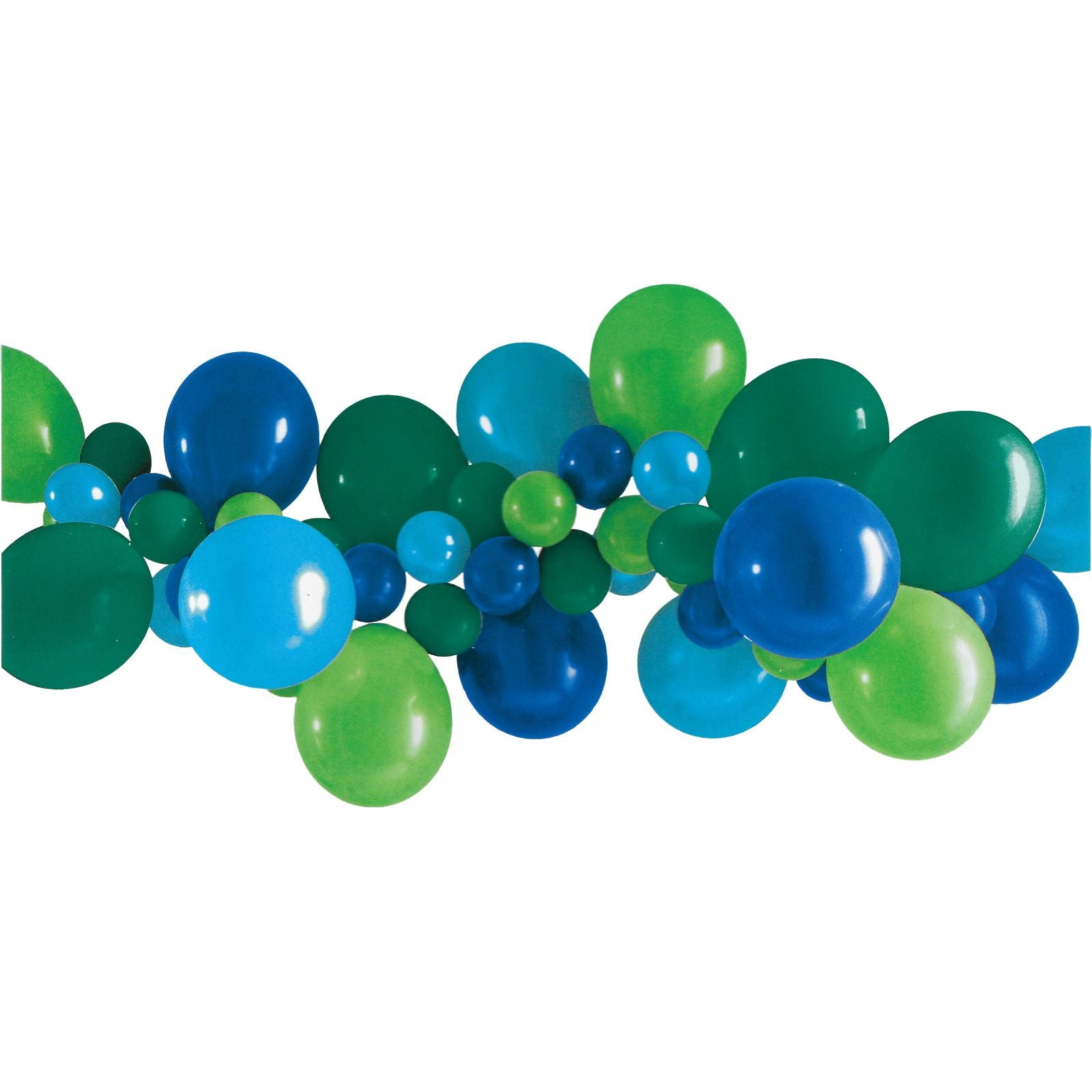Blue Green Balloon Garland Kit Nz The Party Room