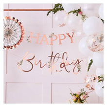 Load image into Gallery viewer, Rose Gold Happy Birthday Bunting