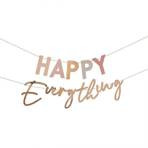 Pastel and Gold Happy Everything Party Bunting - The Party Room