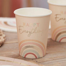 Load image into Gallery viewer, Happy Everything Natural Rainbow Birthday Party Cups - The Party Room
