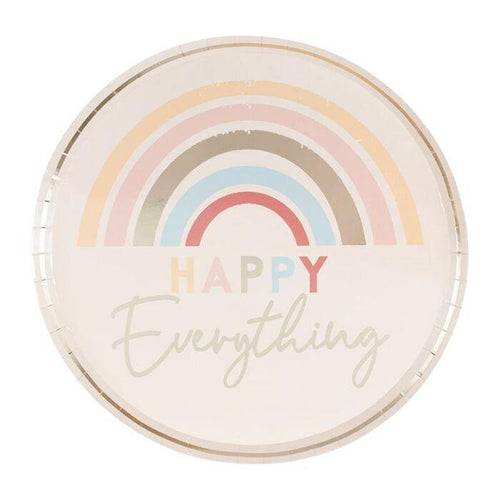 Happy Everything Natural Rainbow Plates - The Party Room