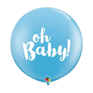 Large 'Oh Baby' Blue Balloons