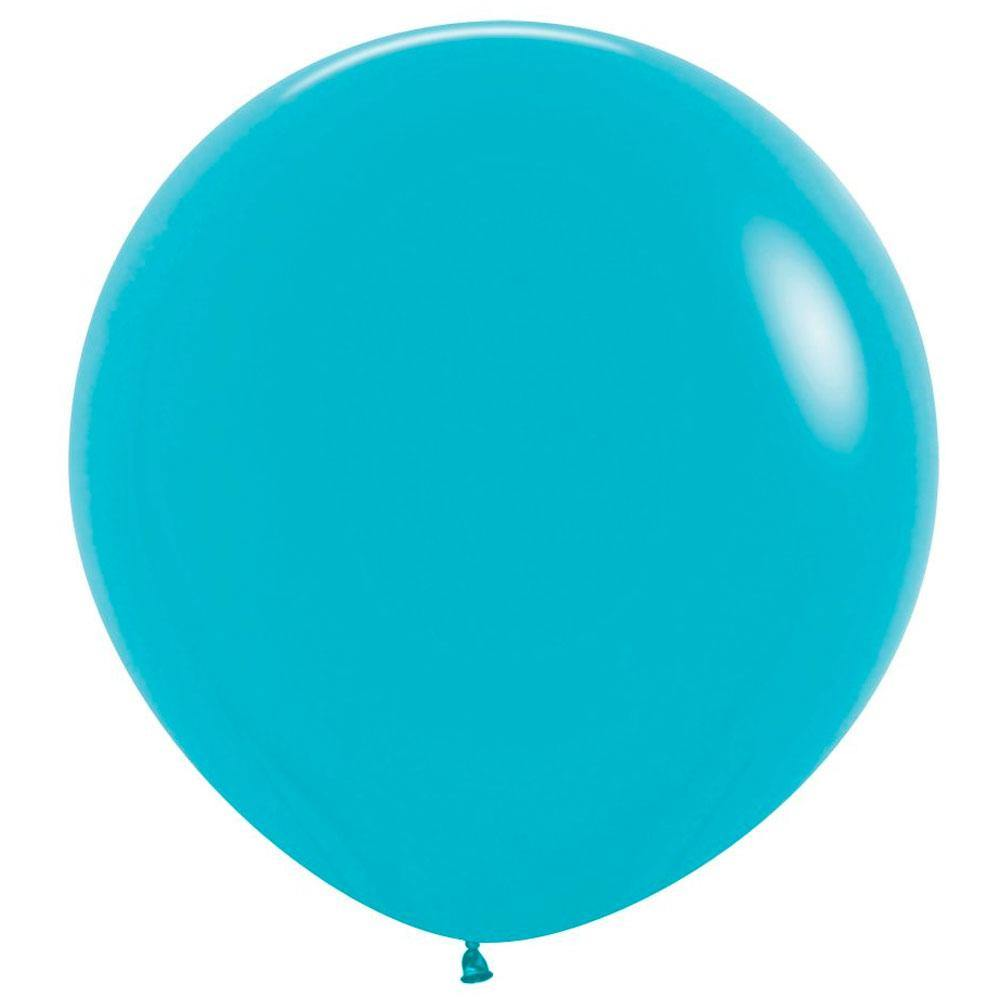 Large 60cm Caribbean Blue Balloons - The Party Room