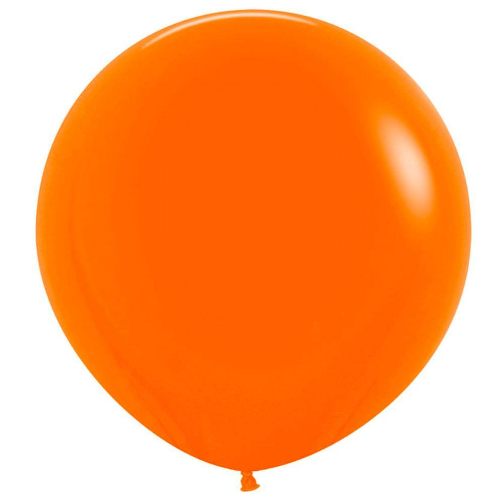 Large 60cm Orange Balloons - The Party Room
