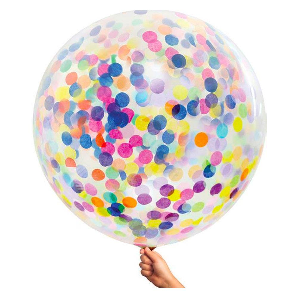 Large 90cm Confetti Balloons - Multi Colour - The Party Room