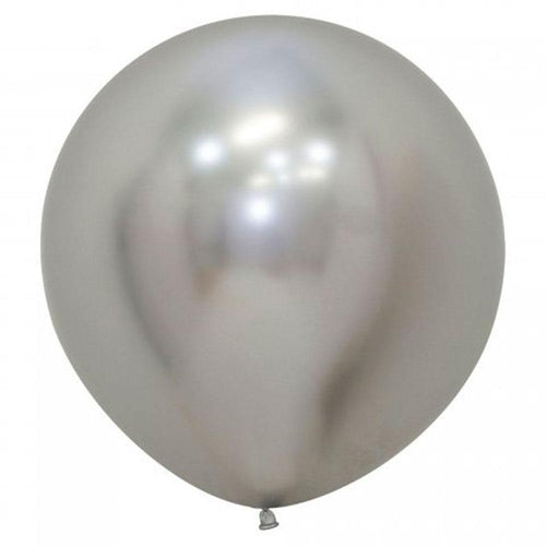 Large 60cm Metallic Silver Balloons - The Party Room