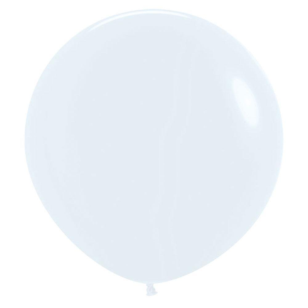 Large 60cm White Balloons - The Party Room