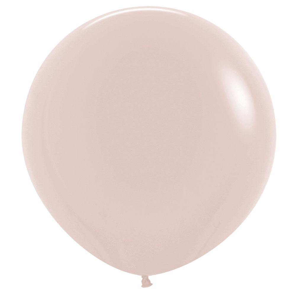 Large 60cm White Sand Balloons - The Party Room