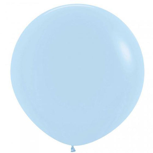Large 90cm Pastel Blue Balloons - The Party Room