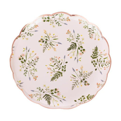 Floral Tea Party Paper Plates - The Party Room