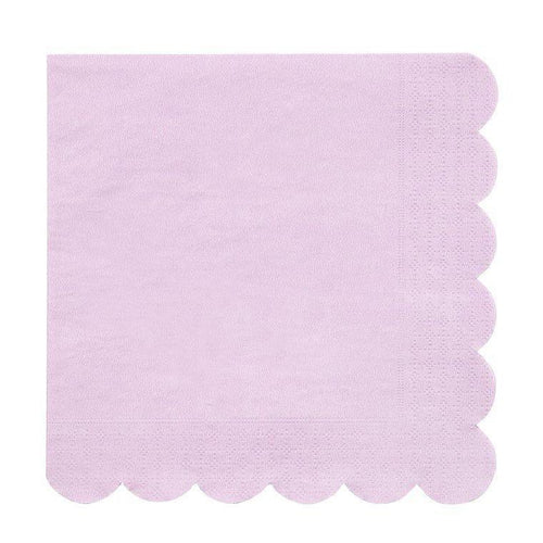 Lilac Scalloped Napkins - The Party Room