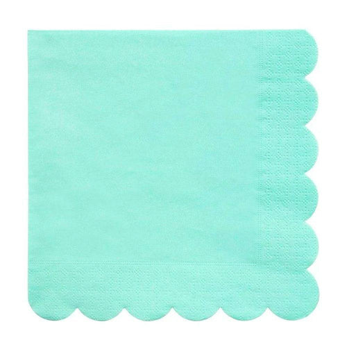 Mint Scalloped Napkins