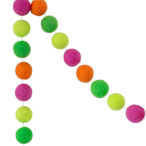 Felt Ball Garland | Neon - The Party Room