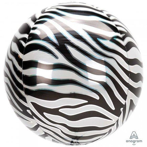 Zebra Print Orbz Balloon - The Party Room
