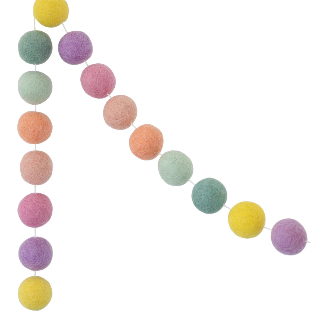 Felt Ball Garland | Pastel - The Party Room