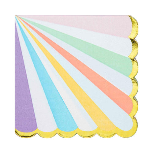 Pastel Stripes Napkins - The Party Room