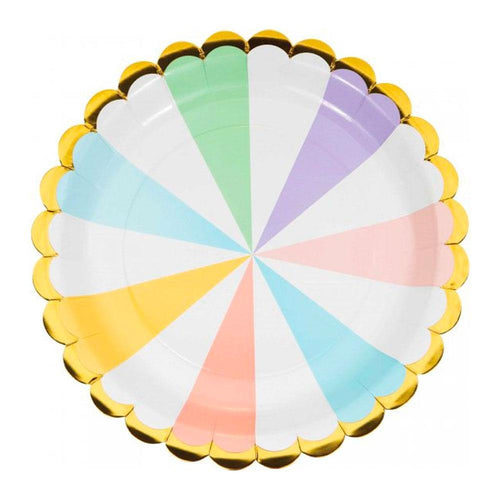 Pastel Stripes Plates - The Party Room