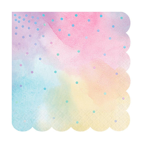 Iridescent Foil Pastel Napkins - The Party Room