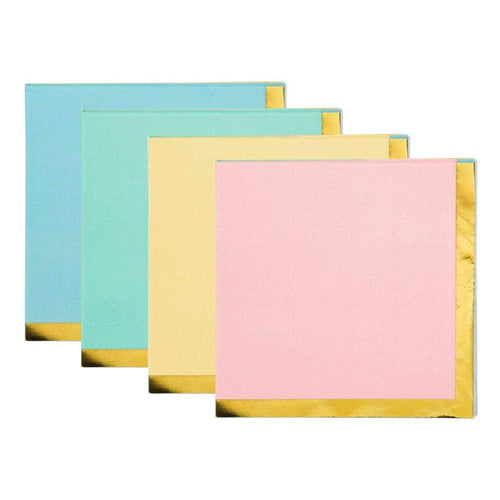 Pastel Beverage Napkins - The Party Room