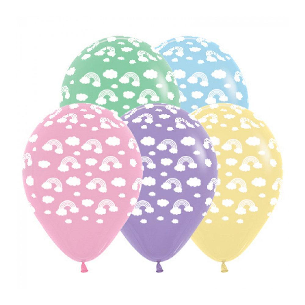 Pastel Rainbow Balloons - The Party Room
