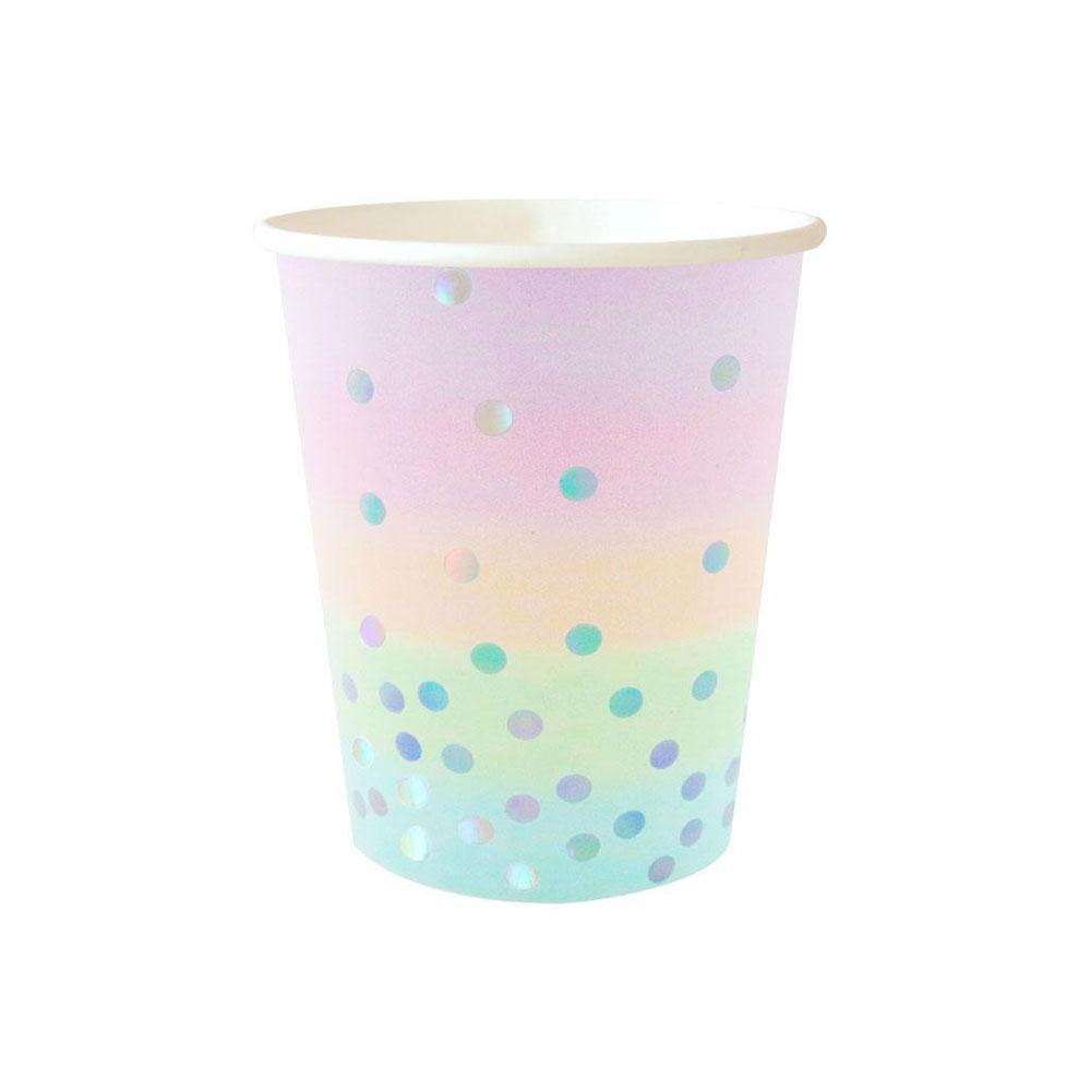 Iridescent Pastel Cups - The Party Room