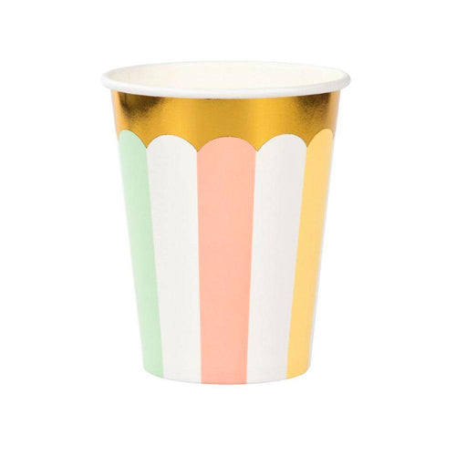 Pastel Stripes Cups